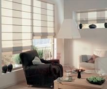 римские шторы, дизайн римских штор