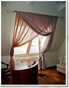шторы для мансардного окна