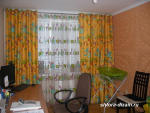 шторы в детской комнате,тюль вуаль,портьеры из атласа