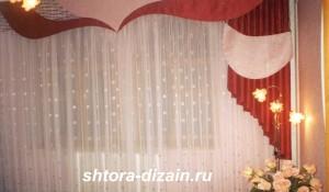 шторы для детско комнаты,ламбрекен из жатки,тюль из вуали