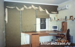 римские шторы и ламбрекен в детской комнате