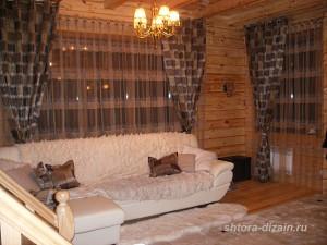 шторы в гостинной, холле, зале