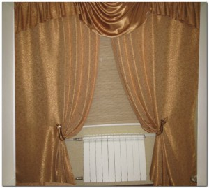 шторы из креп-сатина, ткань креп-сатин