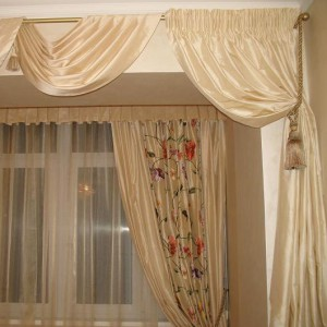 шторы из шёлка, ткань шёлк