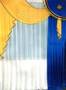 ткань шифон, шторы из шифона